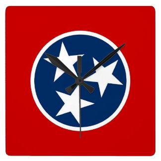 Reloj de pared con la bandera de Tennessee, los