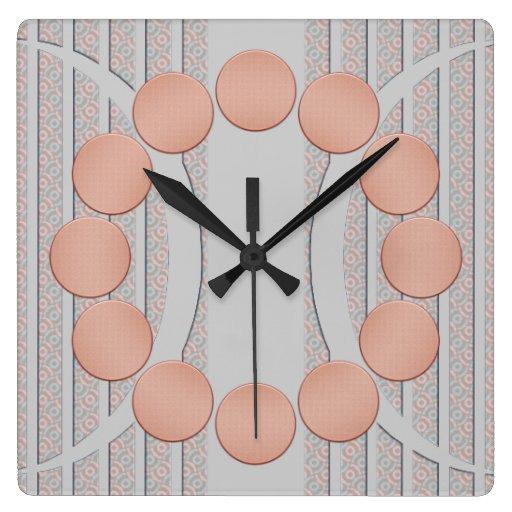 Reloj de pared contemporáneo moderno