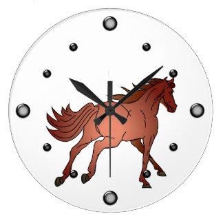 Reloj de pared corriente del caballo