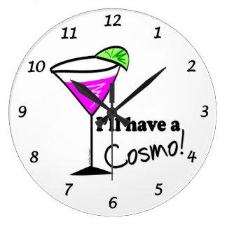 Reloj de pared cosmopolita rosado