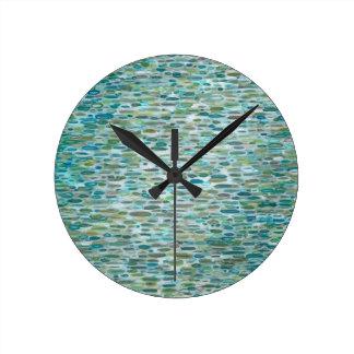 Reloj de pared costero redondo de la lluvia de Mar