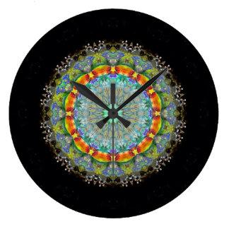 Reloj de pared cristalino de la mandala