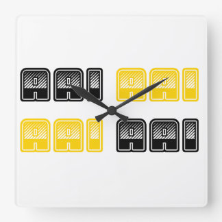 Reloj de pared cuadrado de AAI