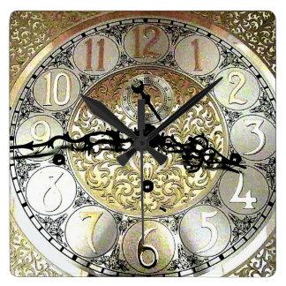 Reloj de pared cuadrado de abuelo