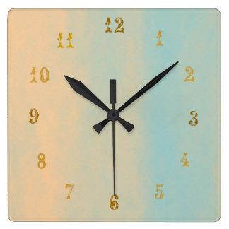 Reloj de pared cuadrado de piedra de Look>Patterne
