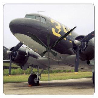 Reloj de pared cuadrado del C-47
