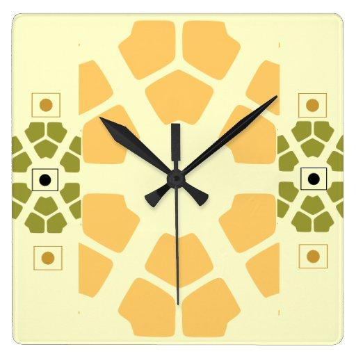 reloj de pared cuadrado moderno
