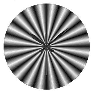 Reloj de pared de acero de la ilusión óptica del e