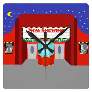 Reloj de pared de acrílico del cine retro