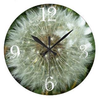 Reloj de pared de acrílico del diente de león