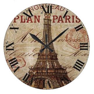 Reloj de pared de acrílico redondo de París