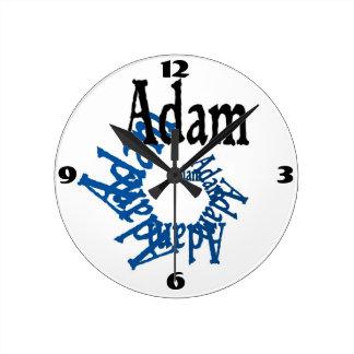 Reloj de pared de Adán