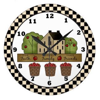Reloj de pared de Apple de la inspiración del país