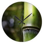 Reloj de pared de bambú