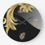 Reloj de pared de Bling de la obsidiana