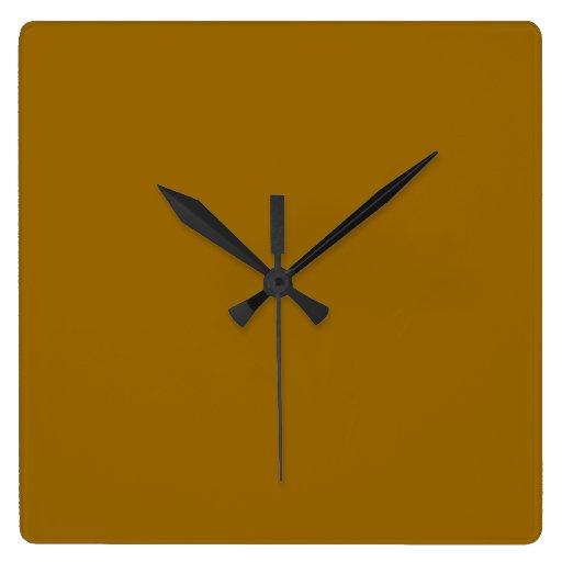 Reloj de pared de Brown de la gema de Chelsea