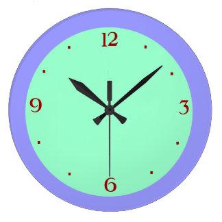 Reloj de pared de color de malva llano del green>