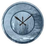 Reloj de pared de cristal azul del efecto