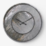 Reloj de pared de cristal gris del efecto
