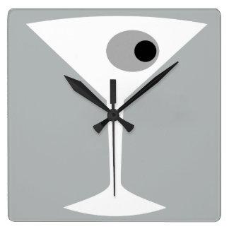 Reloj de pared de cristal Noir de Martini de la
