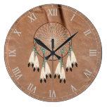 Reloj de pared de Dreamcatcher del nativo american