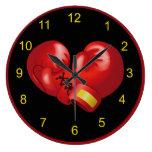 Reloj de pared de encajonamiento del diseño