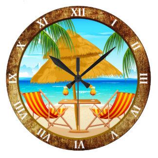 Reloj de pared de encargo de las vacaciones tropic