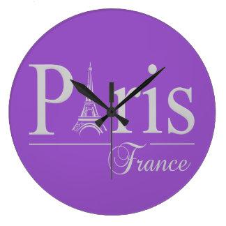 Reloj de pared de encargo del color de París Franc