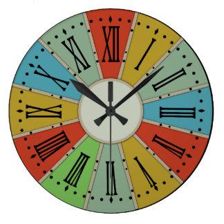 Reloj de pared de encargo del molinillo de viento