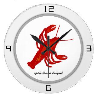 Reloj de pared de encargo del restaurante de la