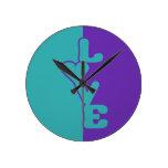 Reloj de pared de encargo Dos-Entonado del amor