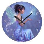Reloj de pared de hadas de Opalite