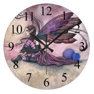 Reloj de pared de hadas del arte de la fantasía de