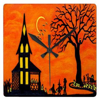 """Reloj de pared de Halloween la """"mejor noche del añ"""