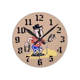 Reloj de pared de herradura del cabeceo