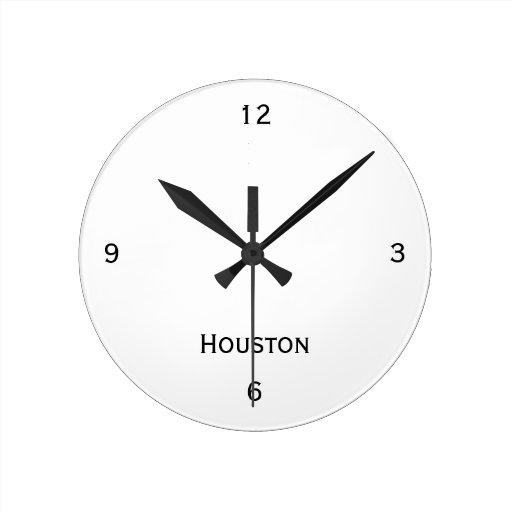 Reloj de pared de Houston