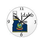 Reloj de pared de Idaho