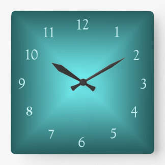 Reloj de pared de Illuminated>Plain del verde esme