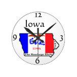 Reloj de pared de Iowa