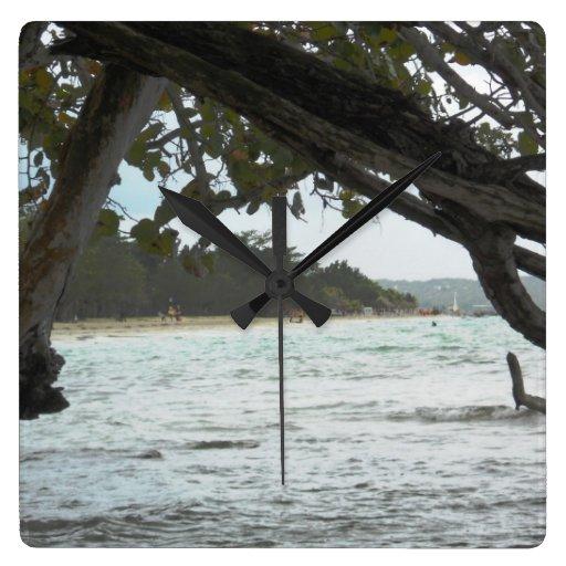 Reloj de pared de Jamaica de la playa de Negril