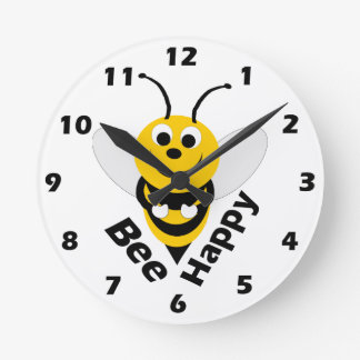 Reloj de pared de la abeja