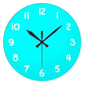 Reloj de pared de la aguamarina