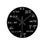 Reloj de pared de la álgebra - NEGRO