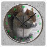 Reloj de pared de la ardilla