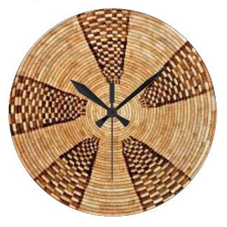Reloj de pared de la armadura de cesta