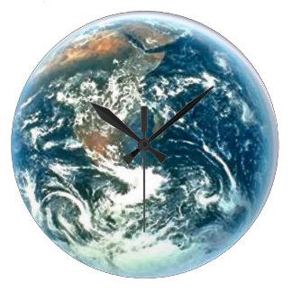 Reloj de pared de la astronomía de la tierra y del