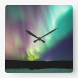 Reloj de pared de la aurora de Alaska