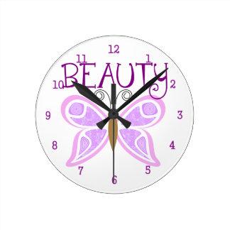 Reloj de pared de la belleza de la mariposa