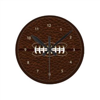 Reloj de pared de la bola del fútbol americano