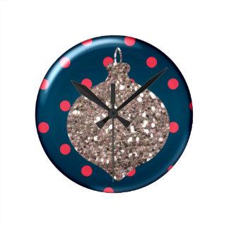 Reloj de pared de la bola del ornamento del navida